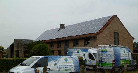 zonnepaneleninstallatie op dakpannen Heymans-Van Schepdael-Van Schepdael Eric te Gooik