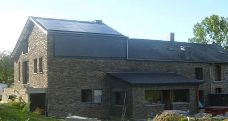 zonnepanelen installatie op leien - Louette St Denis