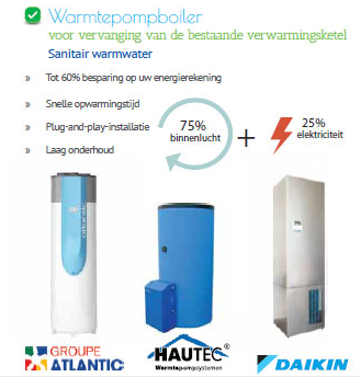 Warmtepompboiler - Productie sanitair warm water