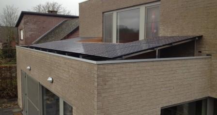 zonnepanelen installatie aluminium schans - steenhuize