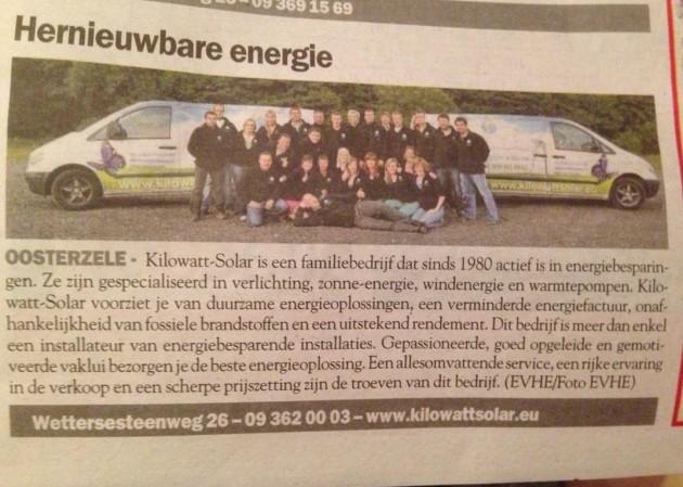 Kilowatt-Solar-Streekkrant