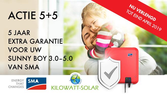 5 jaar extra garantie SMA-SUNNY BOY 3.0-5.0